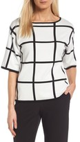 Vince Camuto Women's Windowpane Sweater