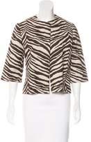 Adrienne Landau Long Sleeve Patterned Jacket
