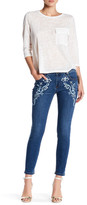 Romeo & Juliet Couture Embroidered Woven Print Skinny Denim Jean