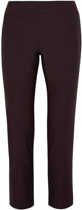 Eileen Fisher Plum Cropped Slim-leg Trousers