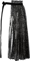 No.21 pleat panel tied belt - women - Polyester - XS