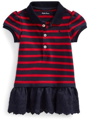 Ralph Lauren Eyelet-Hem Striped Polo Shirt