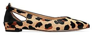Cole Haan Women's Ramsey Cutout Leopard-Print Calf Hair & Leather Ballet Flats