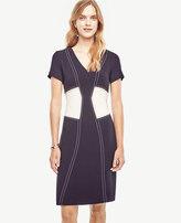 Ann Taylor Petite Stitch Bodice Sheath Dress