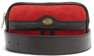 Gucci Ophidia Small Suede Belt Bag - Womens - Red