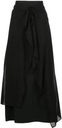 Y's tie front skirt