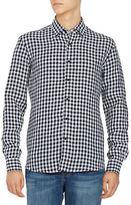 Black Brown 1826 Gingham Linen Sportshirt
