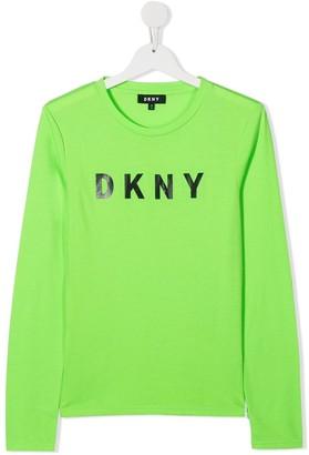 DKNY TEEN logo-print T-shirt