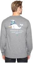 Vineyard Vines Long Sleeve Snowman Whale Pocket T-Shirt