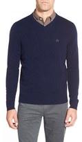 AG Jeans Men's Green Label 'Arbor' Wool & Cashmere V-Neck Sweater