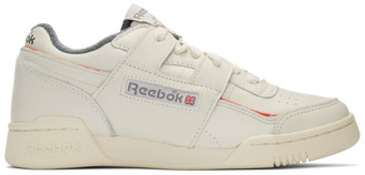 Reebok Classics White and Red Workout Plus 1987 TV Sneakers