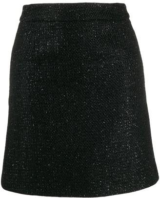 Amiri Boucle short skirt
