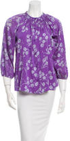 Tucker Printed Silk Top w/ Tags