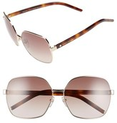 Marc Jacobs Women's 61Mm Oversized Sunglasses - Gold/ Havana