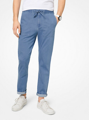 Michael Kors Slim-Fit Chambray Pants