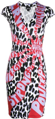 Just Cavalli Graphic-Print Mini Bodycon Dress