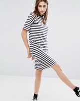 Cheap Monday High Neck Swing Dress in Stripe