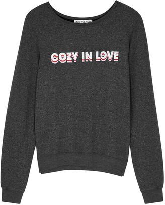 Wildfox Couture Cozy In Love Baggy Beach jersey sweatshirt