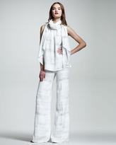 Wes Gordon Croc-Print Cloque Trousers