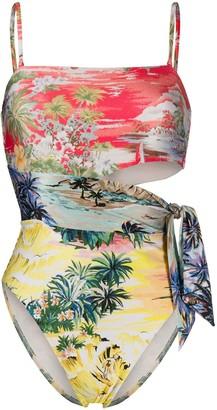 Zimmermann Juliette palm tree print swimsuit
