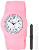 Slide Kids' SL3P-JUPWL Slap 3PAQ Jumbo Pink, White and Black Watch