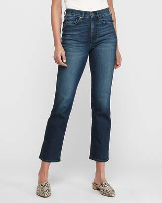 Express High Waisted Original Dark Wash Straight Jeans