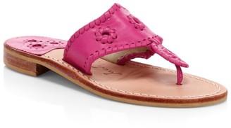 Jack Rogers Jacks Leather Thong Sandals