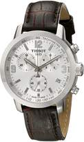 Tissot Men's TIST0554171603700 PRC 200 Chronograph Stainless Steel Watch with Leather Band