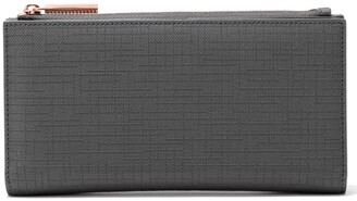 Dagne Dover Signature Slim Coated Canvas Wallet