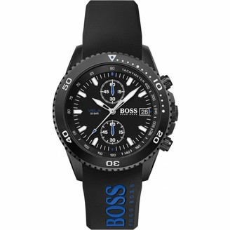 HUGO BOSS Men's Chronograph Quartz Watch with Silicone Strap 1513776