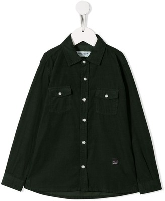 Paolo Pecora Kids Corduroy Button Shirt