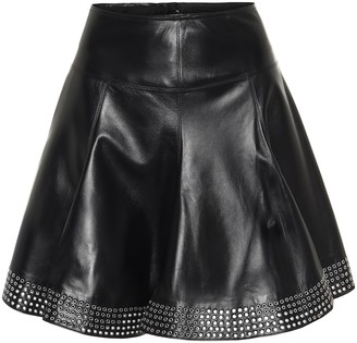 Alaia Embellished leather miniskirt