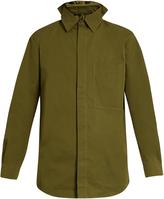 Craig Green Elasticated-collar cotton-blend poplin shirt