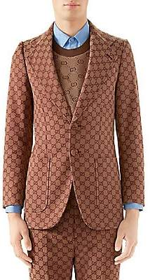 27c16d43f Gucci Men's GG Canvas Single-Breasted Jacket