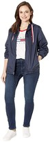 Tommy Hilfiger Adaptive THD Nylon Jacket with Magnetic Zipper (Masters Navy) Women's Clothing