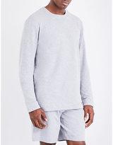 Hanro Grey Solid Comfortable Cotton-jersey Sweatshirt