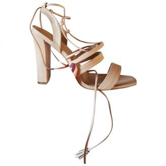 Minelli Beige Leather Sandals