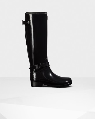 Hunter Women's Refined Adjustable Tall Gloss Rain Boots