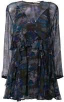 IRO abstract print sheer dress