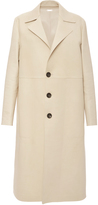 Bally Leather Coat In Bone