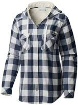 Columbia Women's Michigan Wolverines Times Two Hooded Button-Down Shirt