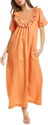 Innika Choo Yoke Linen Maxi Dress