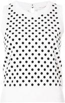Marc Jacobs polka dot knitted vest - women - Nylon/Wool - XS