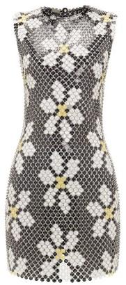 Paco Rabanne Daisy Chainmail Mini Dress - Black Multi