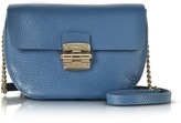 Furla Cobalt Blue Club Mini Pebble Leather Crossbody Bag