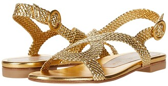 Stuart Weitzman Teodora (Gold Woven) Women's Shoes