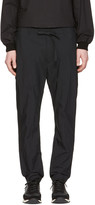 Undecorated Man Black Slim Drawstring Trousers