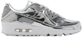 Nike Silver Metallic Chrome Air Max 90 Sneakers
