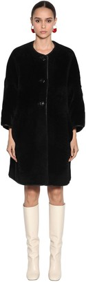 Marni Reversible Glace Shearling Coat