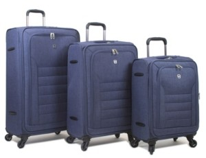 Dejuno Noir 3-Pc. Softside Spinner Luggage Set